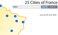 Play 25 Cities France game on Perro-Electric.Com