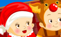 Play Baby's first Christmas game on Perro-Electric.Com