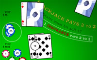Play Blackjack Green Table game on Perro-Electric.Com