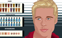 Play Make-up Brad Pitt game on Perro-Electric.Com