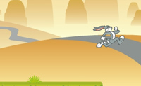 Bugs bunny hopping carrot hunt on Perro-Electric.Com