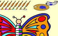 Play Butterfly Coloring on Perro-Electric.Com