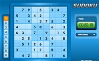 Play Blue Sudoku game on Perro-Electric.Com