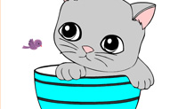 Play Online Coloring Cat game on Perro-Electric.Com