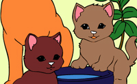 Play Online coloring cats game on Perro-Electric.Com