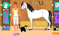 Play Lucky Ranch Dress Up game on Perro-Electric.Com