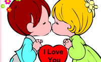 Play I love you Coloring online on Perro-Electric.Com
