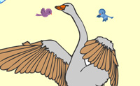 Play Goose coloring game on Perro-Electric.Com