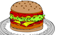 Play Online coloring Hamburger on Perro-Electric.Com