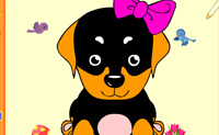 Play Colour the little dog game on Perro-Electric.Com