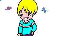 Play Coloring picture little boy on Perro-Electric.Com