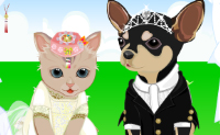 Play Pet Wedding Dress Up game on Perro-Electric.Com