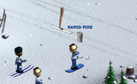 Play Snow fight on skis game on Perro-Electric.Com