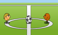 Play 1 on 1 Soccer game on Perro-Electric.Com